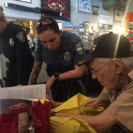 WWII B-17 Tailgunner is Honored by CSPD